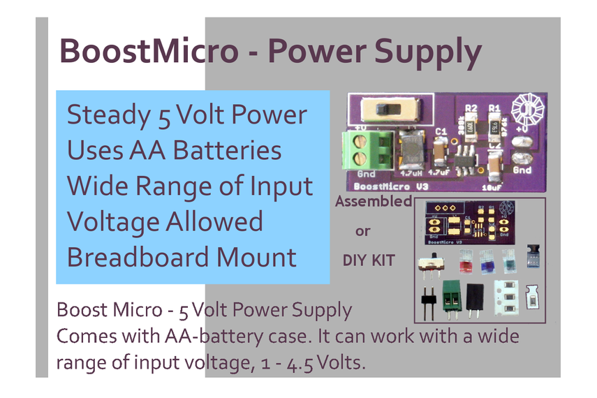 BoostMicro - 5 Volt Power Supply,  DIY Kit