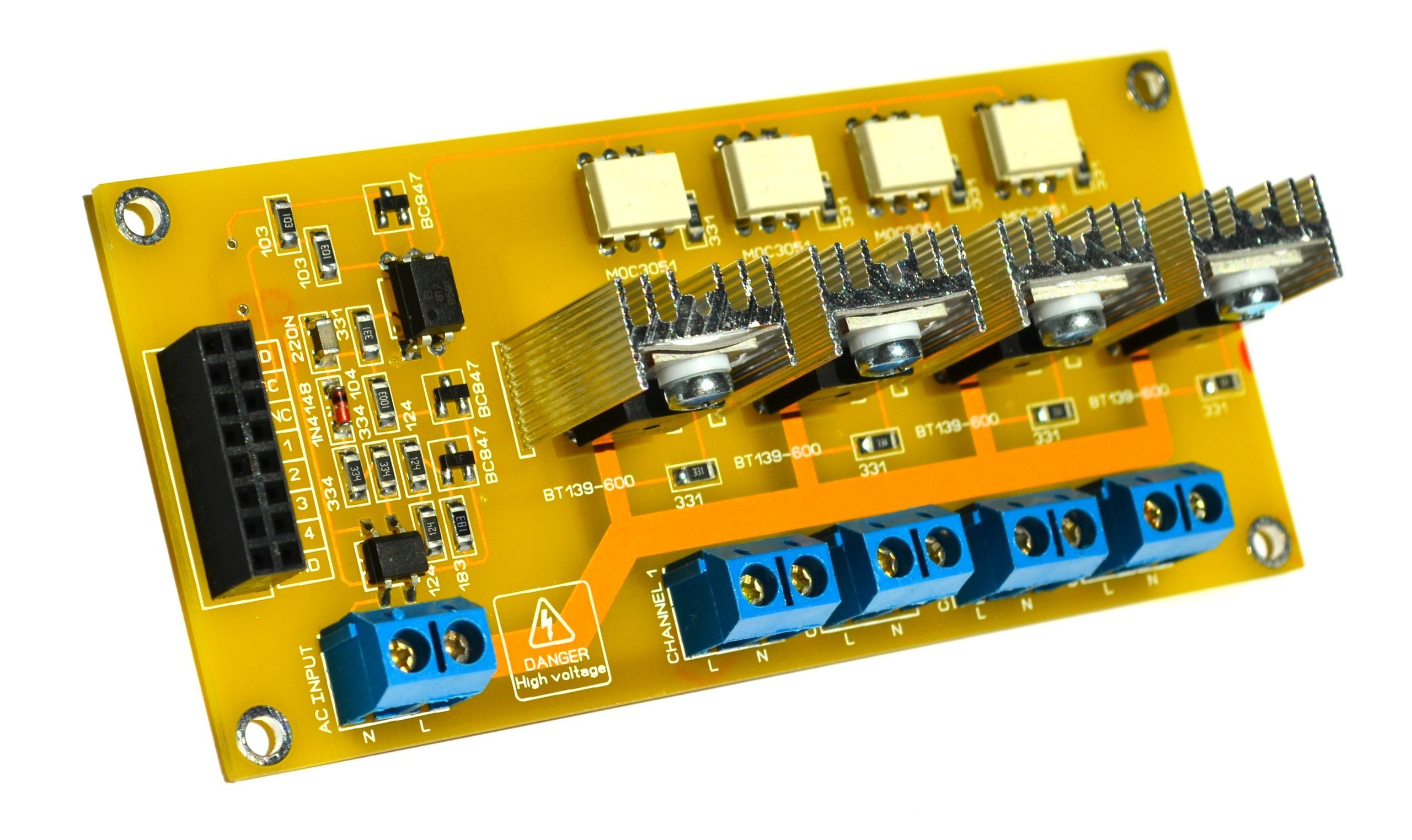 Channel Ac Light Dimmer Arduino Dual Opto Isolated Triac Circuits Circuit Scr Controlled