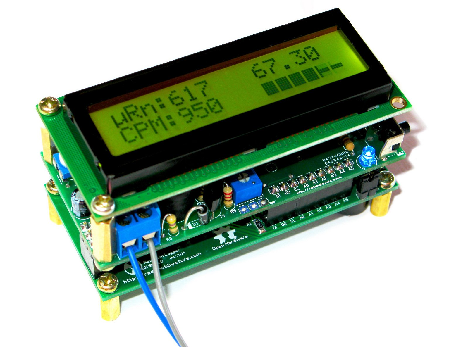 Diy arduino ide geiger counter with sd logger from