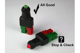 THE STOPLIGHT -- 12 Volt DC Polarity Tester/Checker