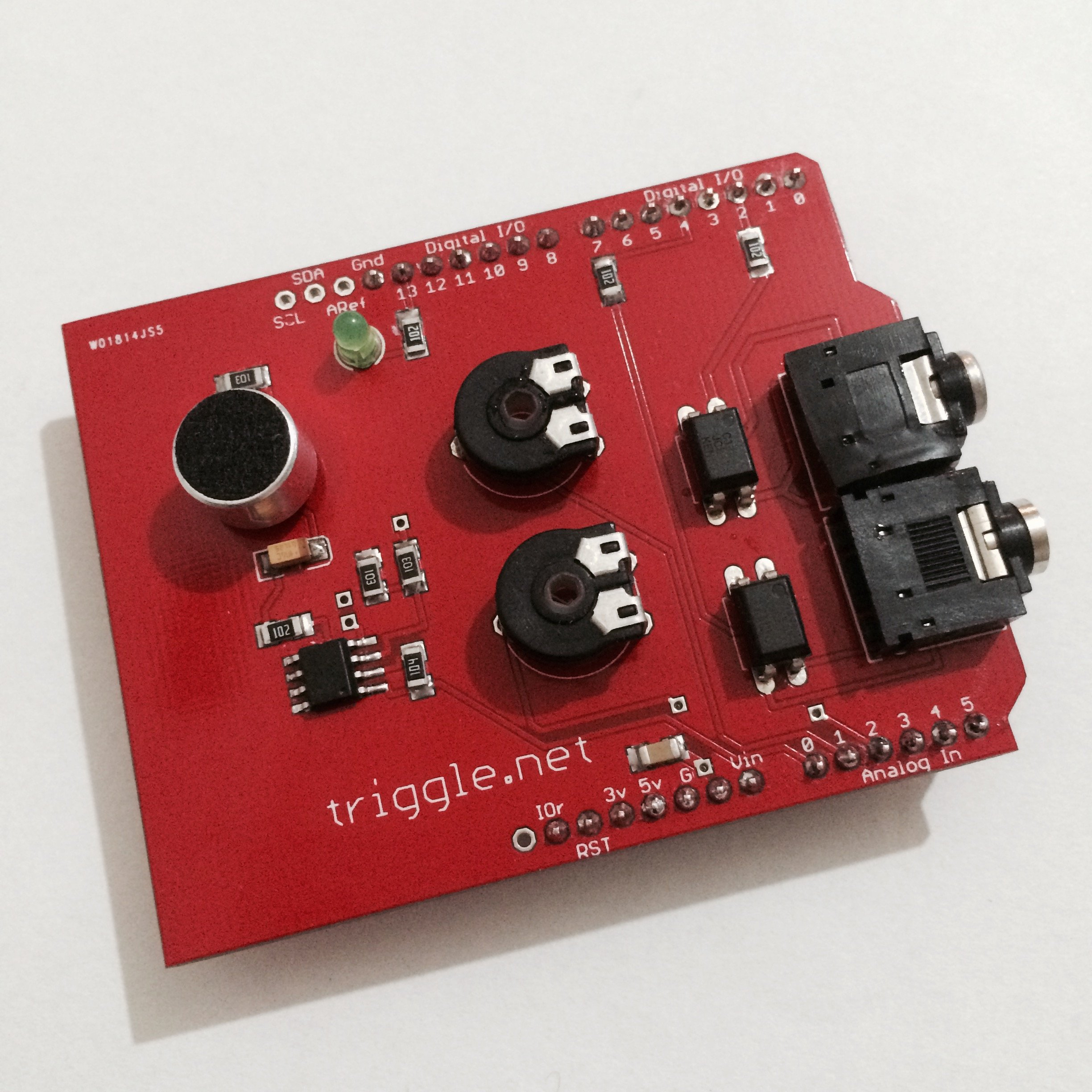Sound trigger shield for arduino from xgknx on tindie