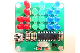 Binary Clock Kit with Red, Green and Blue Lights