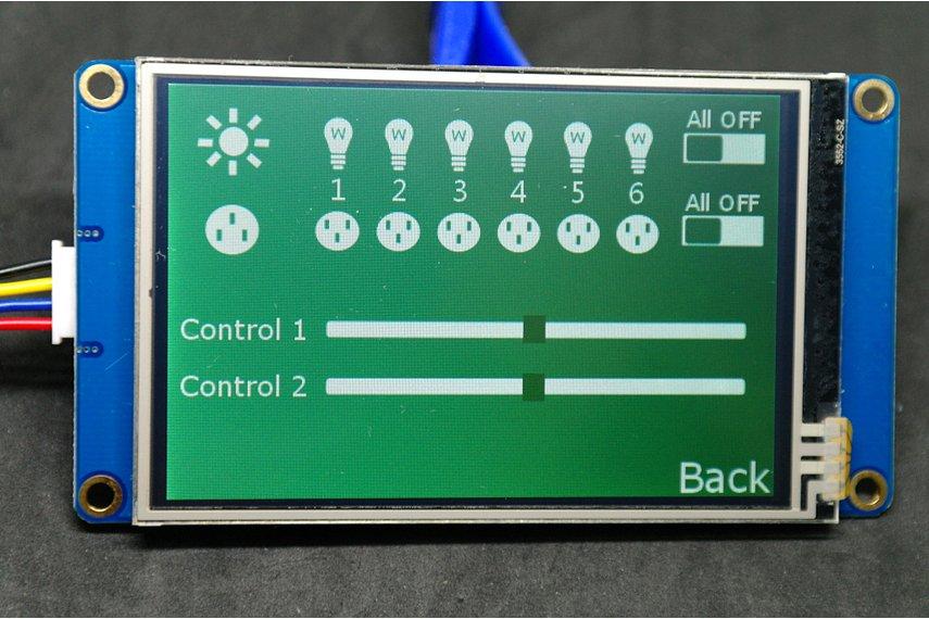 3.5 Inch Usart Control Platform(Arduino&Pi)