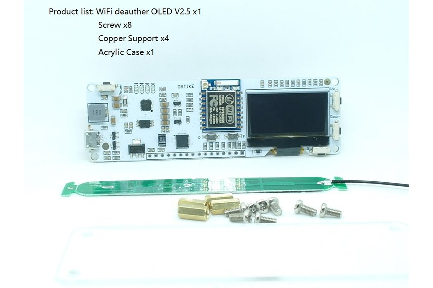WiFi deauther OLED V2.5( Case and  Antenna)