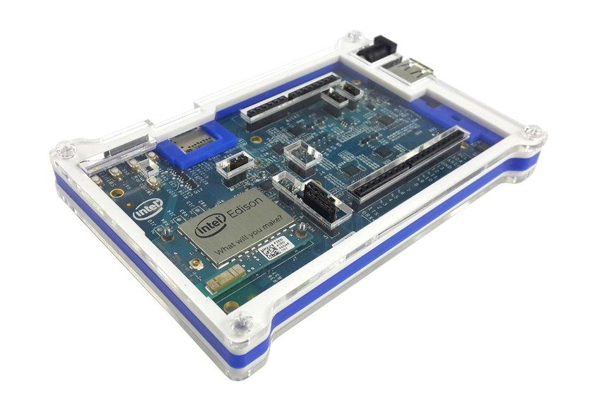 Intel Edison White/Blue Acrylic Case