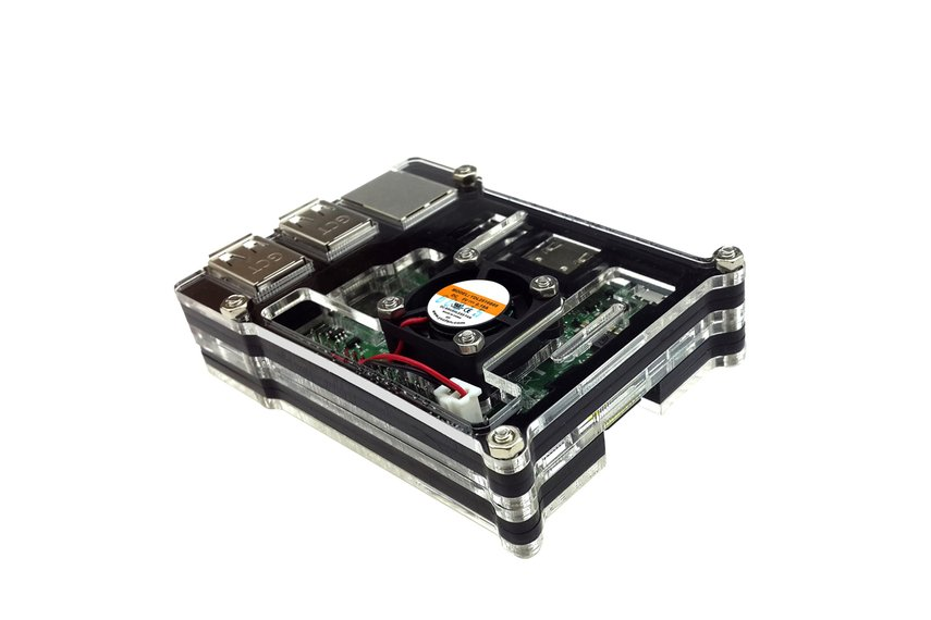 Raspberry Pi 3  Acrylic Case With Fan
