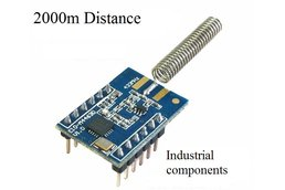 2KM 100mW SI4463 wireless transceiver rf module 433MHz SPI interface with spring atennas