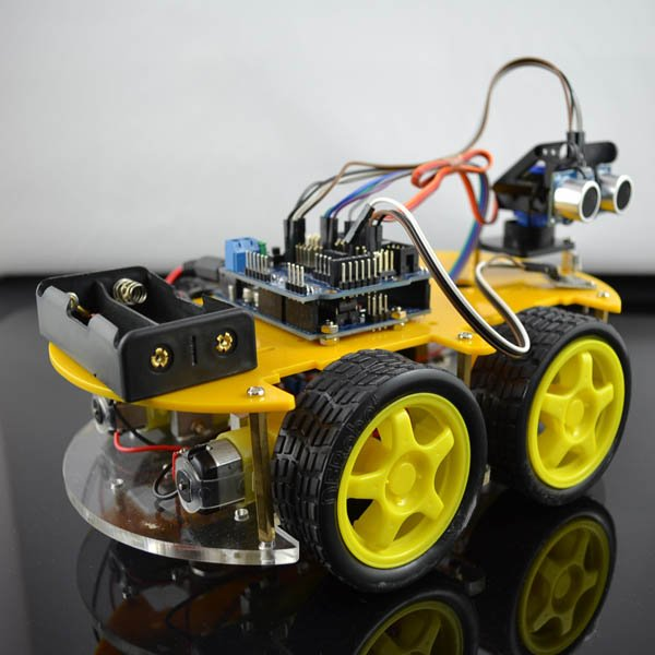 Multifunction bluetooth controlled robot car kit from