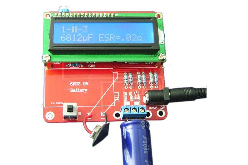 Diy Esr Meter : Diy meter tester kit for capacitance esr inductance