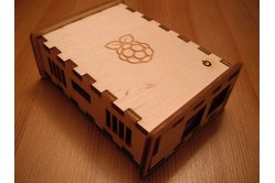 BRAMBLE Pi - Raspberry Pi laser cut finger jointed wooden case
