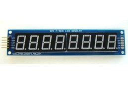 SPI7SEGDISP8.56: Eight digit serial (SPI) seven segment LED display (Red)