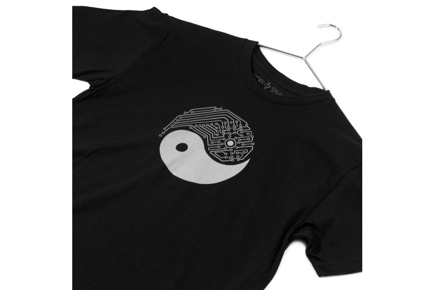 Yin Yang Tech - Mens Graphic T-shirt for Techies