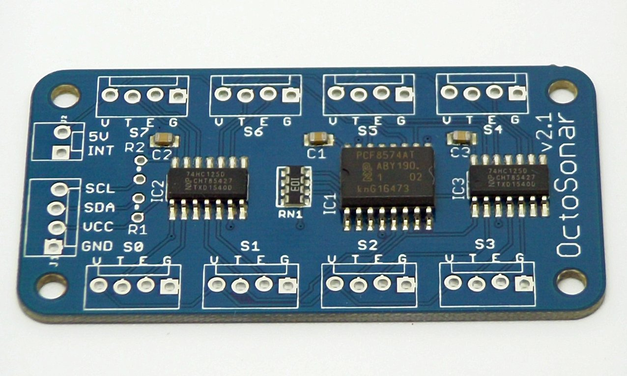 OctoSonar - connect 8 HC-Sr04 UltraSonic sensors to Arduino