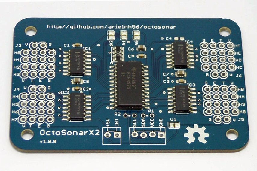 OctoSonarX2 - connect 16 HC-Sr04 UltraSonic sensors to Arduino