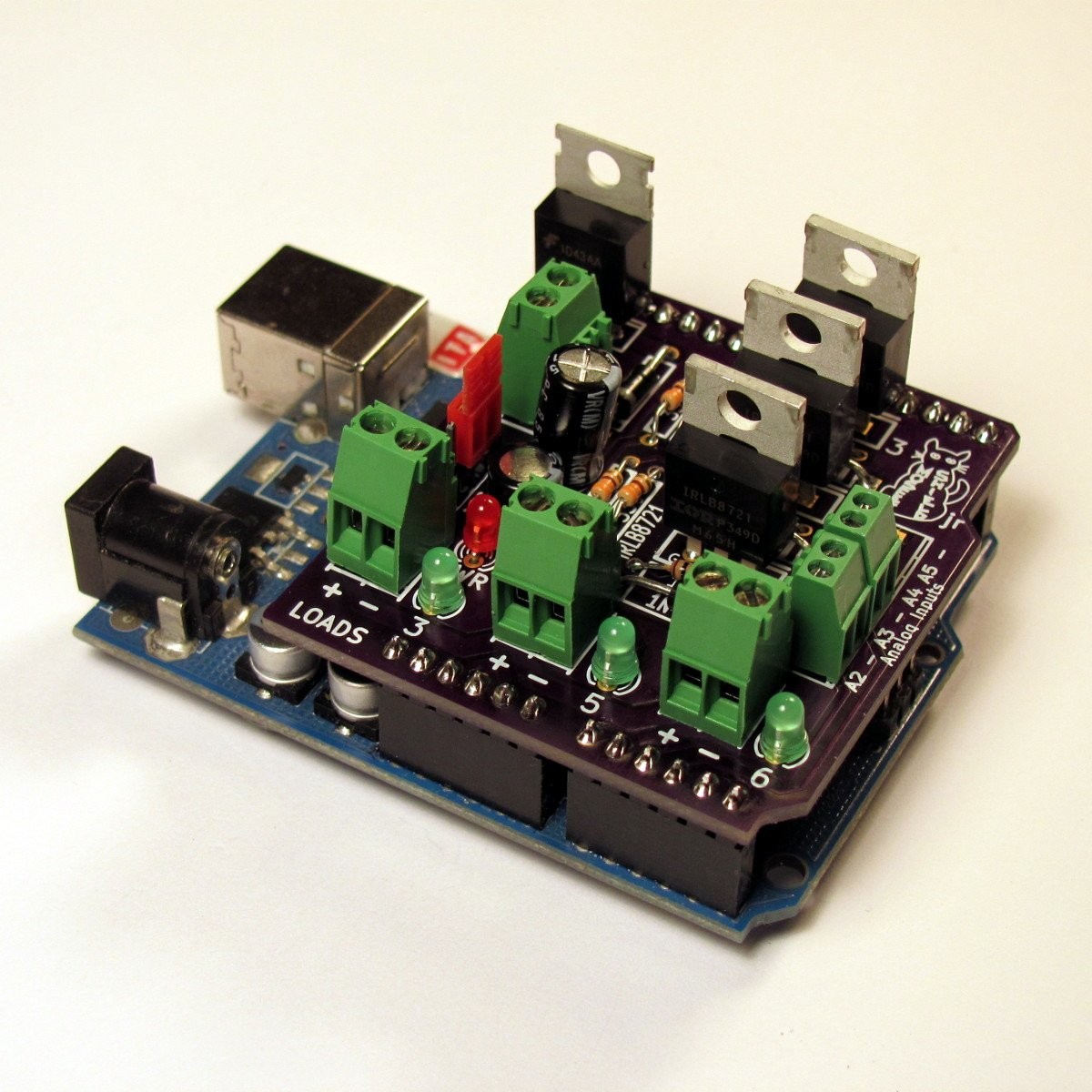 Mosfet jr arduino shield kit from makersbox on tindie