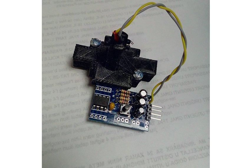 3D Printer Filament Diameter Sensing : Assembled