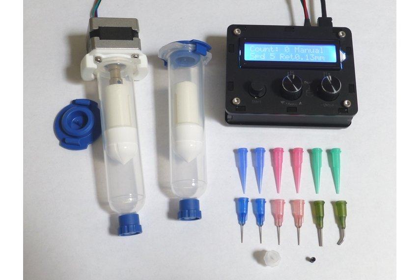 DM dispenser, for solder paste and adhesives