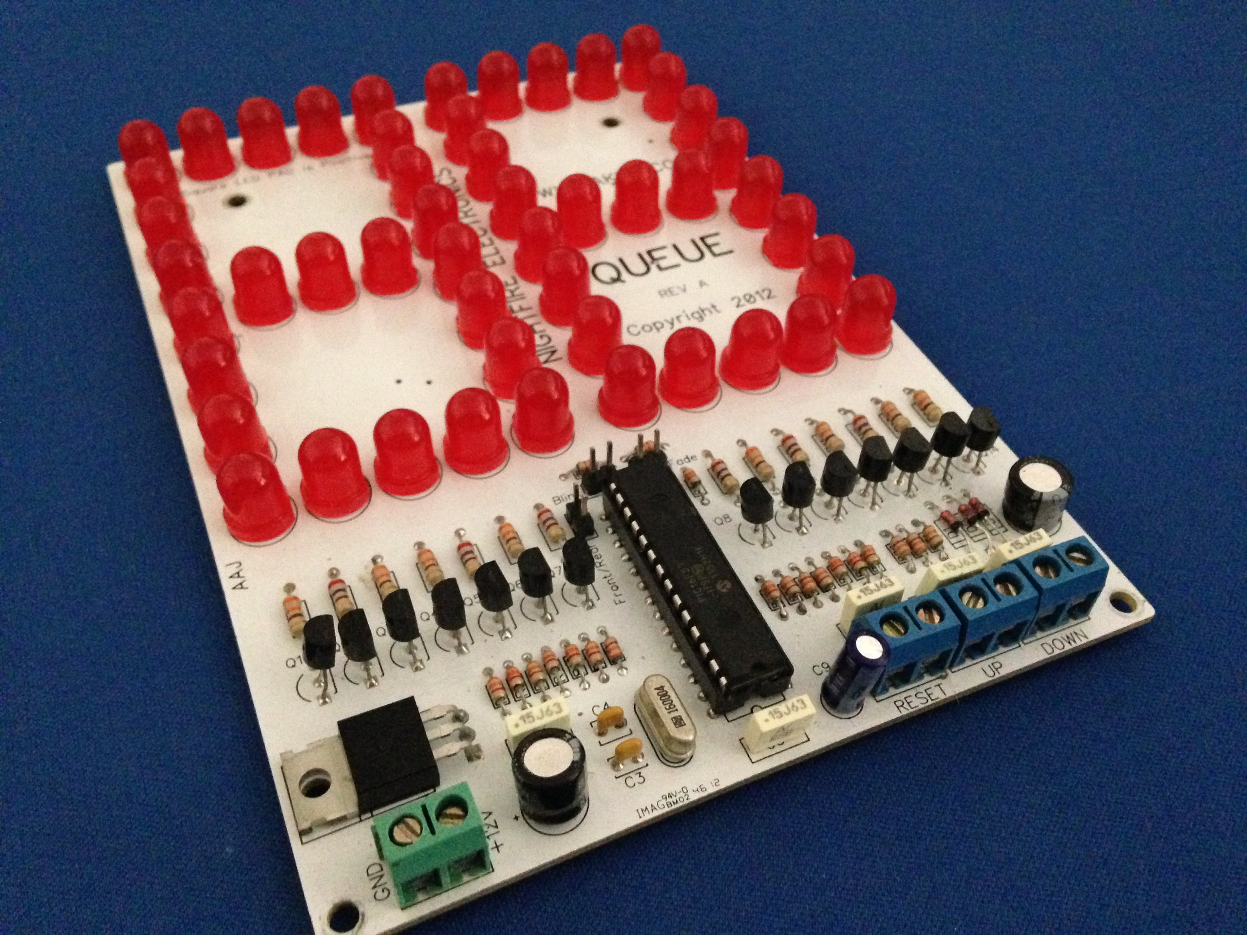 6 led scoreboard kit up down counter kit from nfceramics on tindie. Black Bedroom Furniture Sets. Home Design Ideas