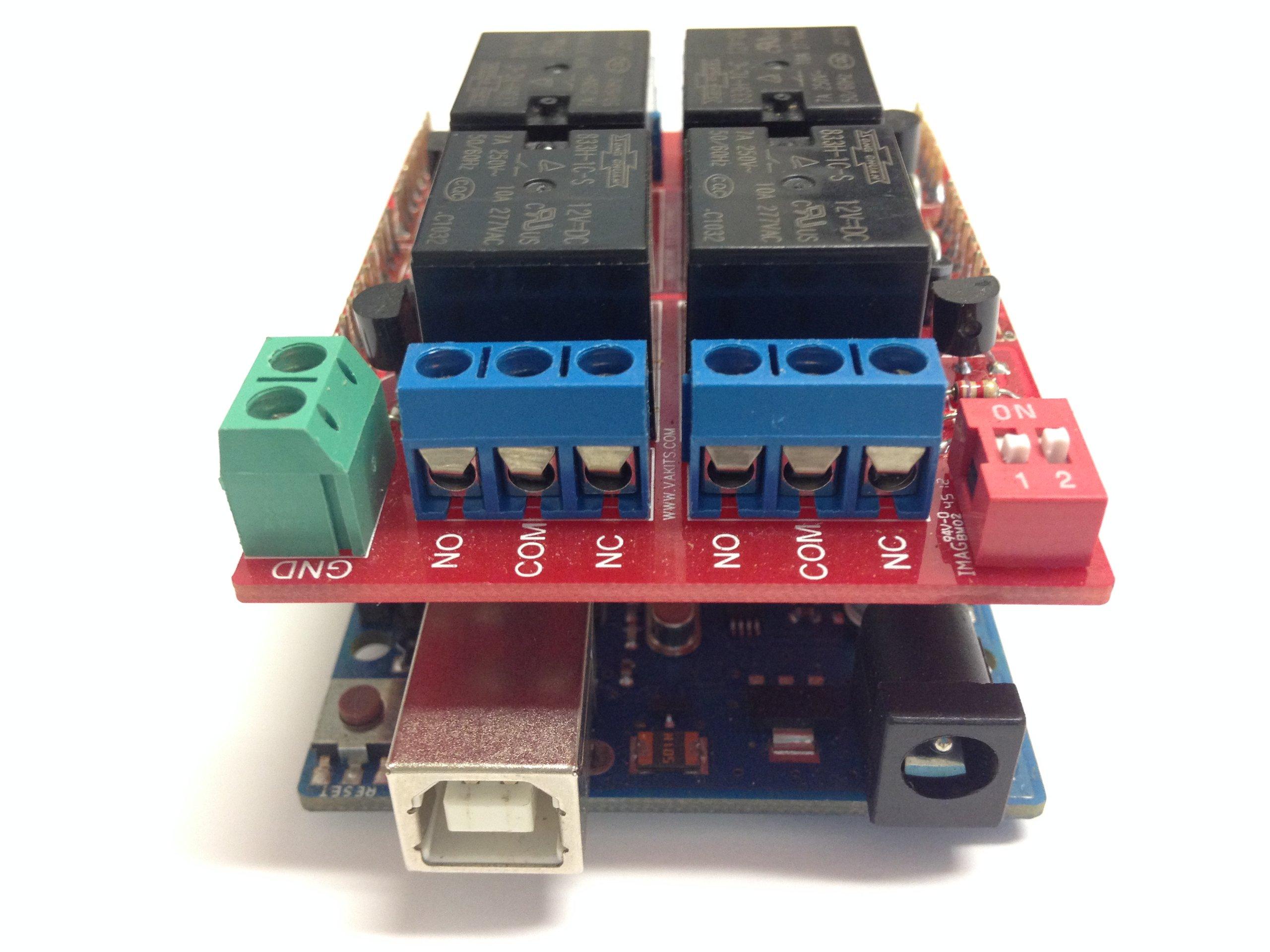 Relay Shield for Arduino Open Electronics