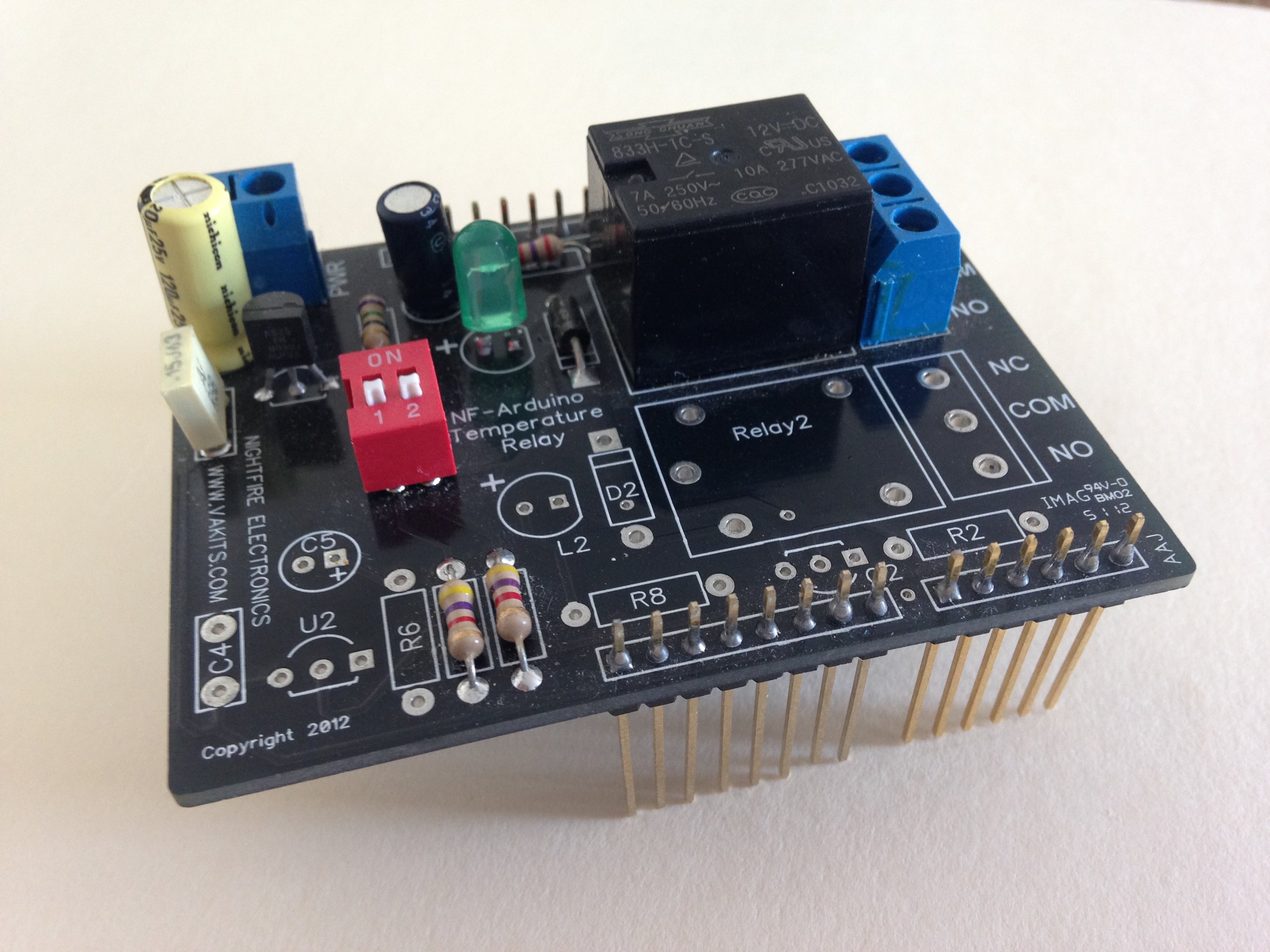 Arduino sensor shield kit photocells from nfceramics on