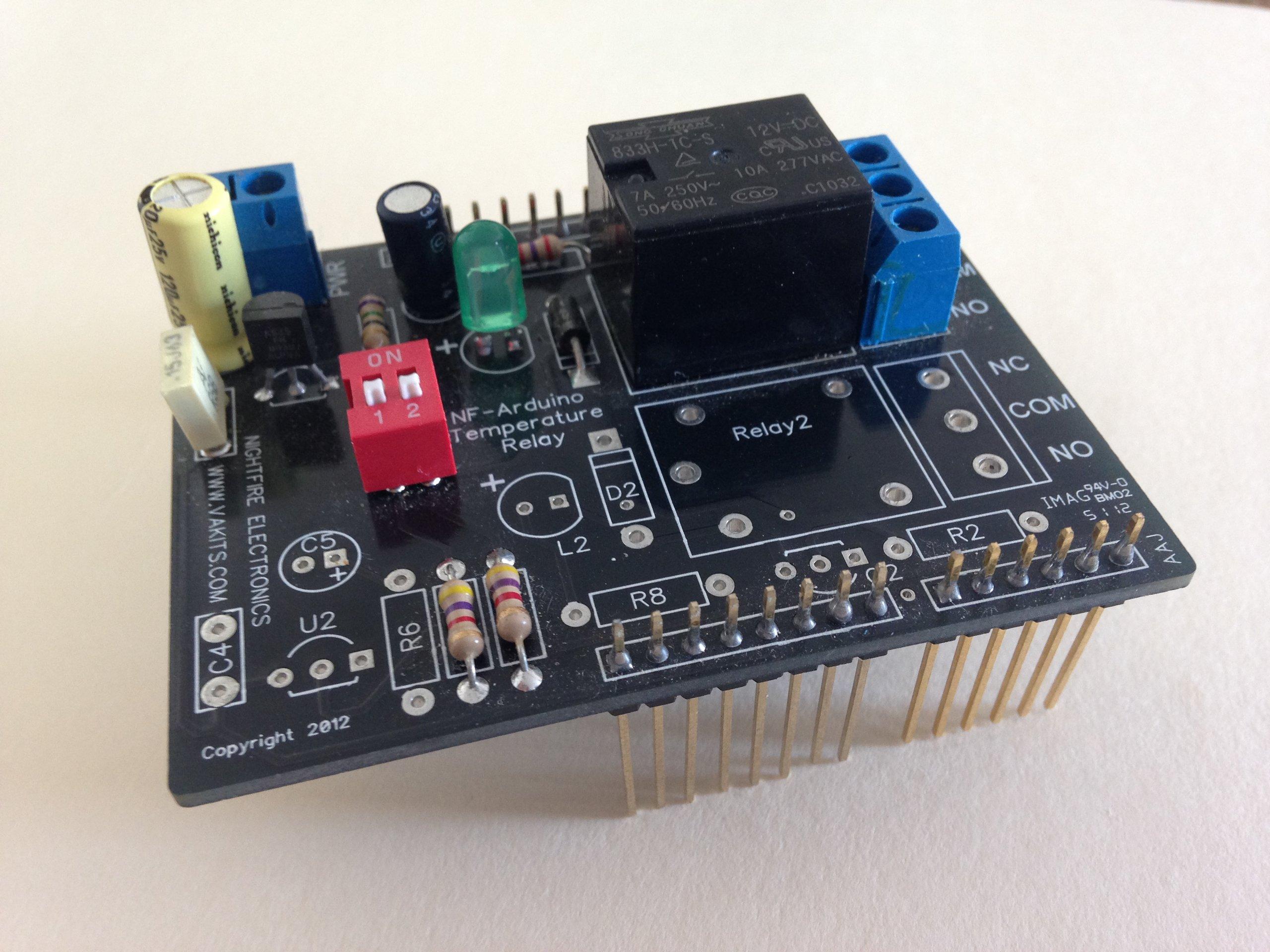 Arduino sensor shield kit temperature sensors relay from