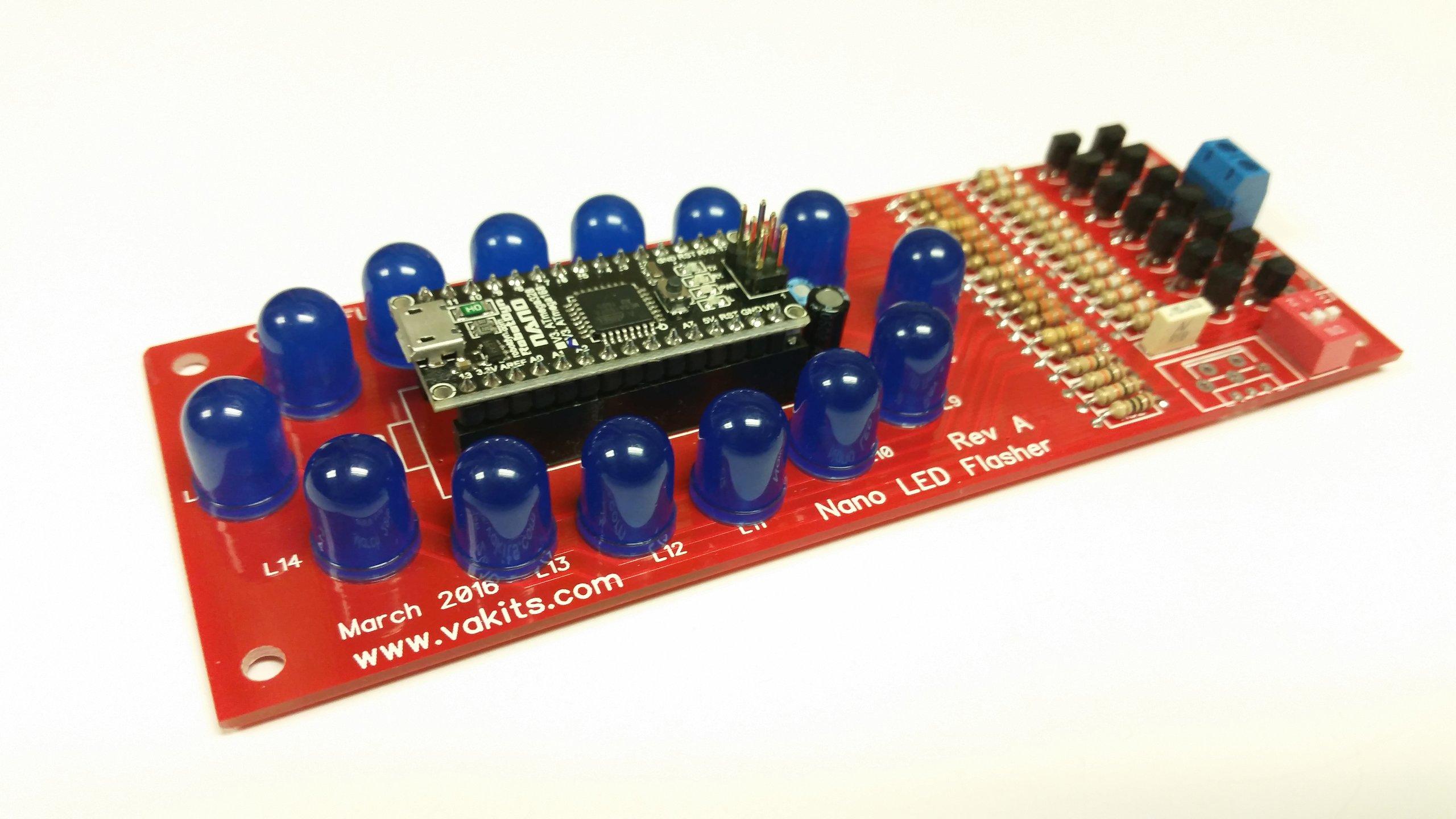 Arduino nano led flasher kit from nfceramics on tindie