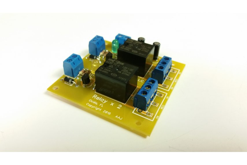 Dual Relay Module Kit - Selectable Coil Voltage
