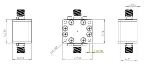 attenuator 3db 100mw  0