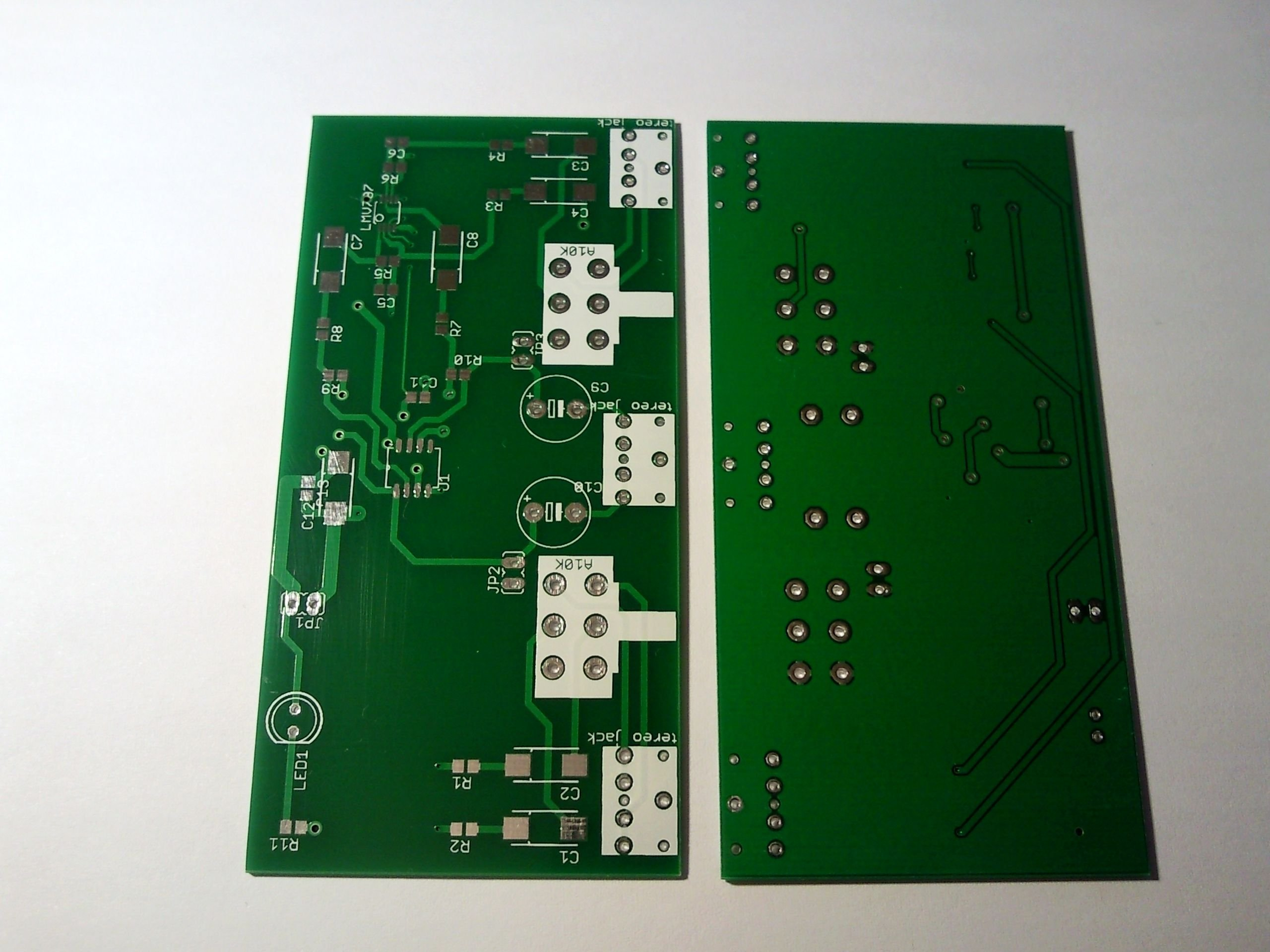 Bare PCB For Two Channel Audio Mixer From Chichomecho