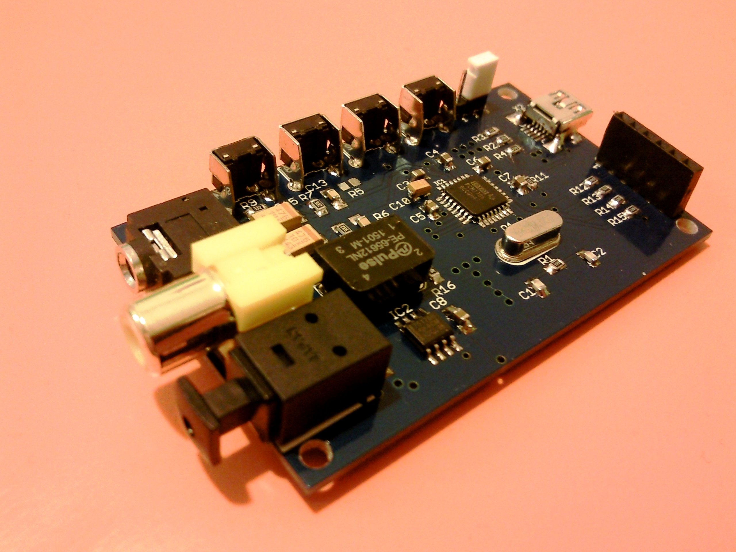 pcm2706 usb dac with s pdif and i2s interface from chichomecho on tindie. Black Bedroom Furniture Sets. Home Design Ideas