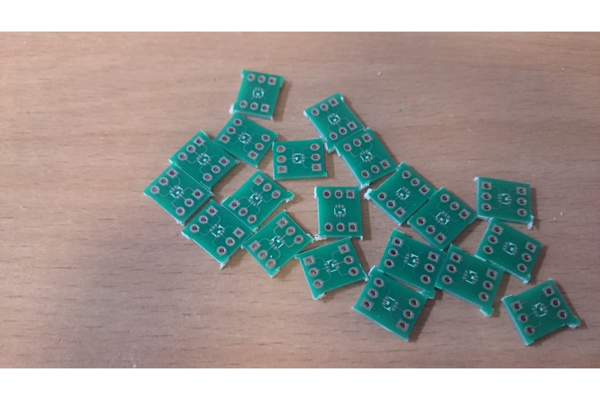 Set of breadboard adapters for SMD parts