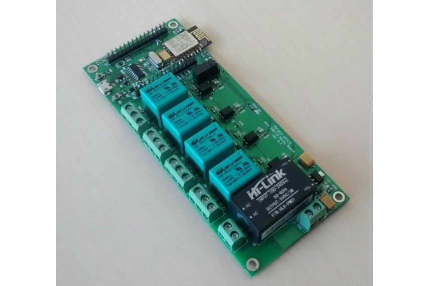 Node MCU ESP8266 WIFI board with 4 Relay for IOT