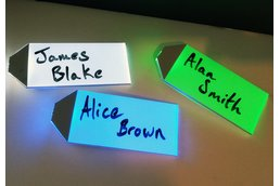 LED badge for name tags and place cards
